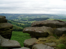 Looking down towards Hathersage